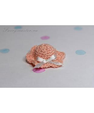 Детская шляпка коралловая