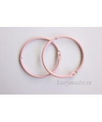 Кольца для альбомов розовые 50 мм