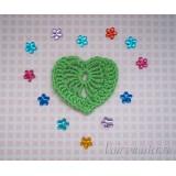 """Вязанное сердечко  """"Зеленое"""""""