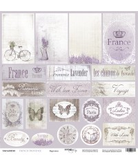 """Скрап бумага  Карточки """"French Provence"""""""