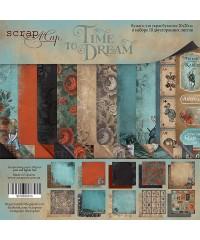 """Набор скрап бумаги  """"Time to Dream""""  20х20см"""