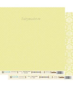 Скрап бумага Лимонный