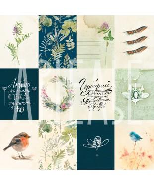 Скрап бумага Птичьи трели