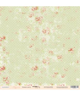 Скрап бумага  Нежные цветы