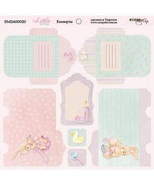 Cкрап бумага конверты Little Bunny 20x20
