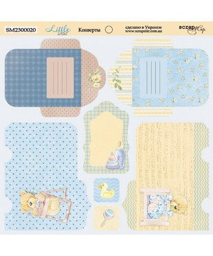 Cкрап бумага конверты Little Bear 20x20