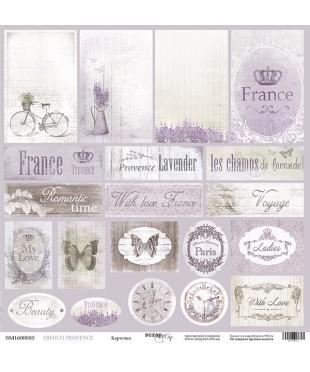Скрап бумага  Карточки French Provence