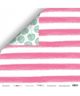 Скрап бумага Розовые полосы