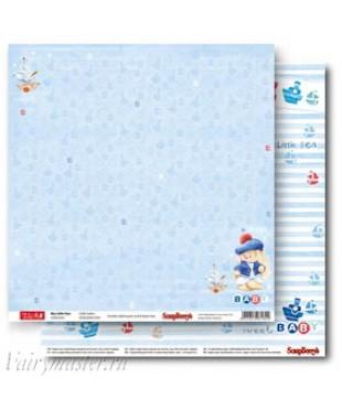 Скрап бумага Зайка по морям 30,5х30,5 см.