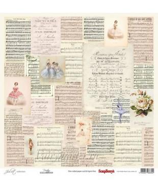 Скрап бумага Музыка