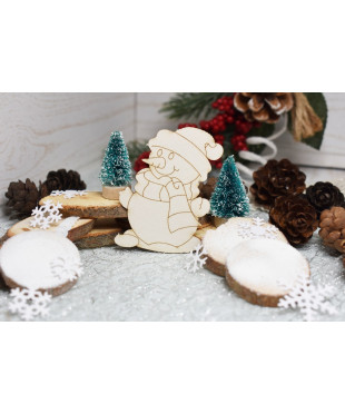 Чипборд Снеговик
