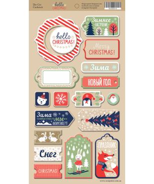 Чипборд Hello Christmas
