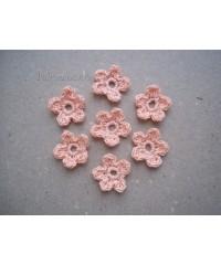 Вязанные цветочки  коралловые