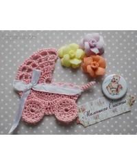 Детская колясочка розовая