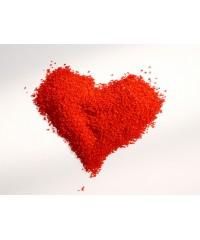 Цветной песок красный
