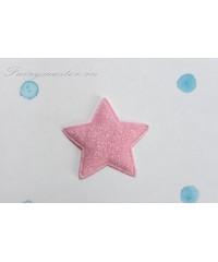 Декоративная  светло-розовая  звездочка