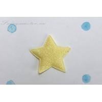 Декоративная  желтая  звездочка