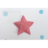 Декоративная розовая звездочка