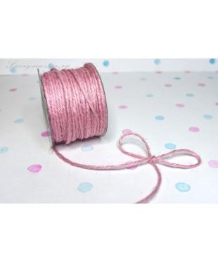 Шнур джутовый  розовый