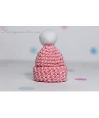 Детская шапочка розовая