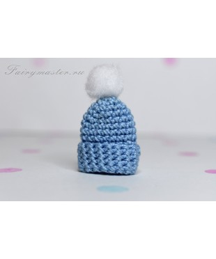 Детская шапочка голубая