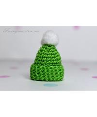 Детская шапочка зелёная
