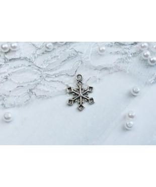 Подвеска снежинка кристалл