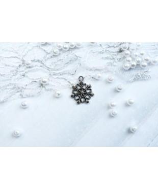 Подвеска снежинка плоская