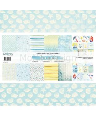 Набор скрап бумаги  Sea party 30,5х30,5 см