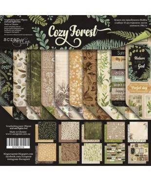 Набор скрап бумаги  Cozy Forest 20х20см