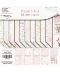 """Набор скрап бумаги  """"Beautiful Moments"""" 20х20см"""