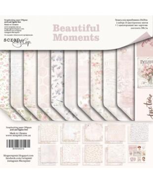 Набор скрап бумаги  Beautiful Moments 20х20см