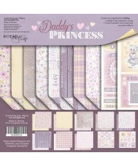 "Набор скрап бумаги  ""Daddy's Princess"" 20х20см"