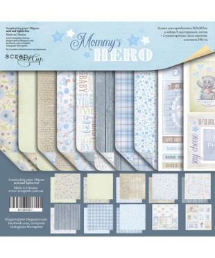 Набор скрап бумаги  Mommy's Hero 30,5х30,5 см