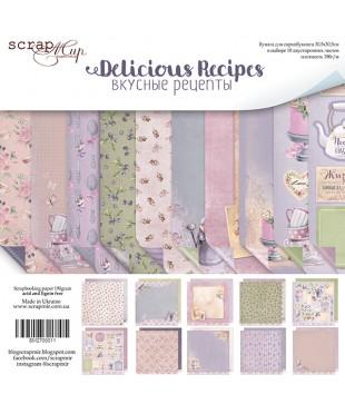Набор скрап бумаги Delicious Recipes  30,5х30,5 см