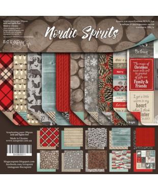Набор скрап бумаги Nordic Spirits 30,5х30,5 см