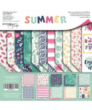 Набор скрап бумаги  Summer 30,5х30,5 см