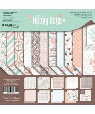 Набор скрап бумаги Happy Days 30,5х30,5 см