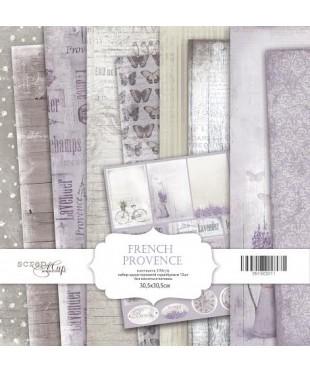 Набор скрап бумаги  French Provence 30,5х30,5 см