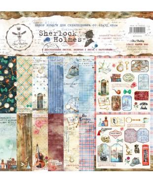 """Бумага для скрапбукинга """"Sherlock Holmes"""" 30,5х30,5"""