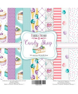 Набор скрап бумаги  Candy Shop 30,5х30,5 см