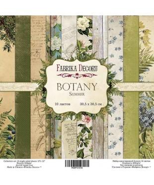 Набор скрап бумаги  Botany summer 30,5х30,5 см