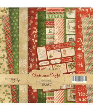 Набор скрап бумаги  Christmas Night 30,5х30,5 см