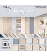 """Набор скрап бумаги  """"Shabby Winter"""" 30,5х30,5 см"""