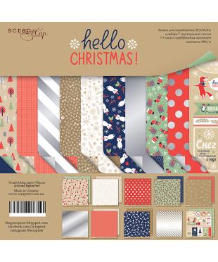 Набор скрап бумаги  Hello Christmas 30,5х30,5 см