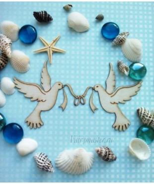 Чипборд Свадебные голуби