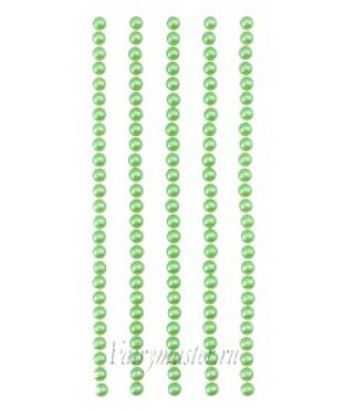 Клеевые полужемчужинки зеленые