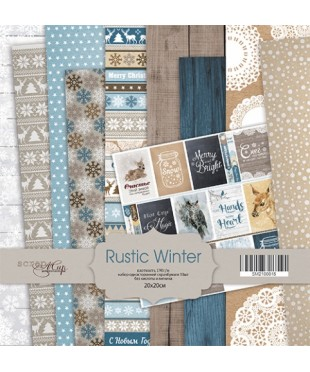 Набор скрап бумаги  Rustic Winter 20х20см