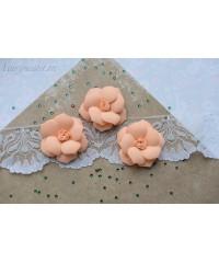 Розы из фоамирана крупные абрикос