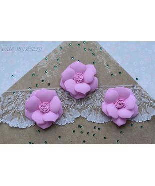Розы из фоамирана крупные розовые